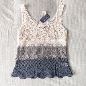 Tiered Ombre Crochet Tank